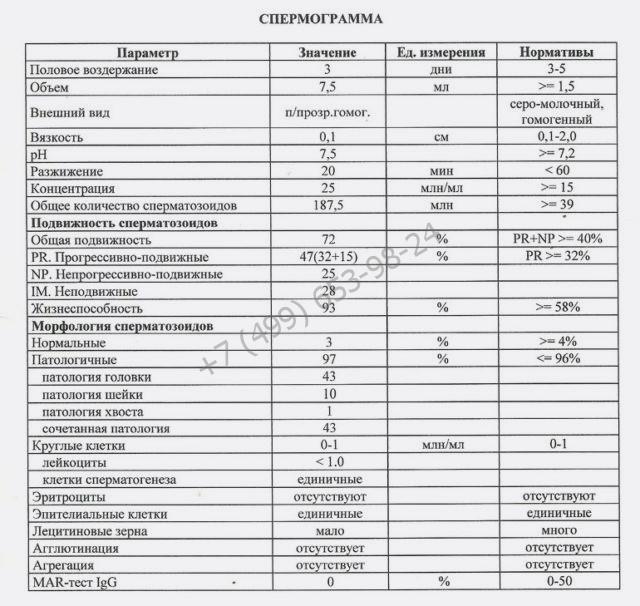 Купить спермограмму в Москве недорого